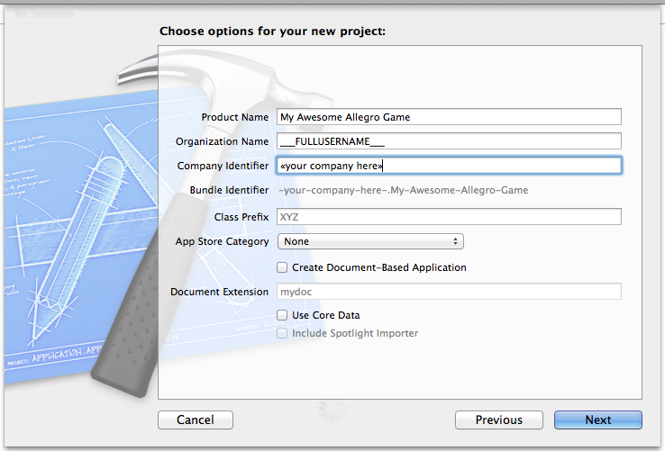 Creating and Using Allegro 5 Static Libraries with XCode 5